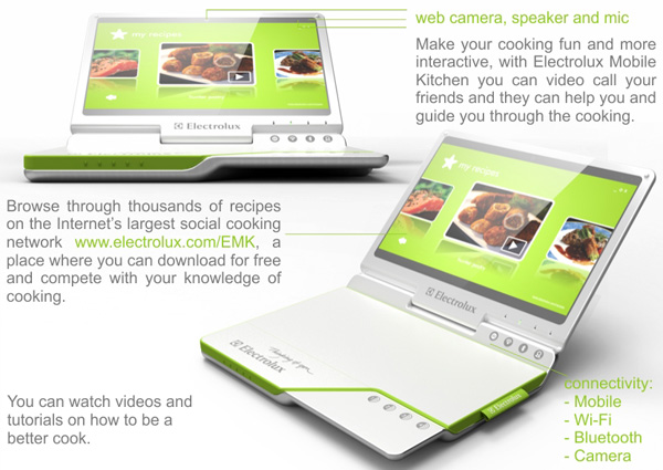 Electrolux Cooking Laptop Concept