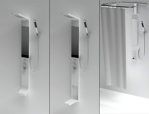 This is the way we shower so0o creative for 3 way bathroom designs