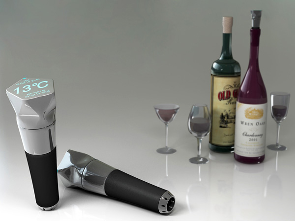 Winery – Digital WiFi Enabled Stopper for Wine Bottles by Kwang-wi Park and Eun-ji Lim