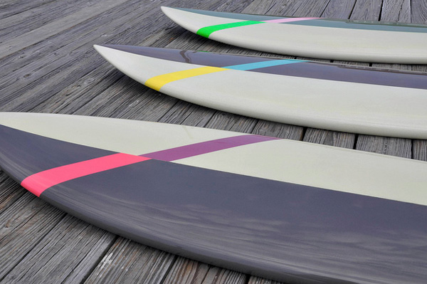 Asymmetrical Surfboard by Malwitz Custom Surfboards in collaboration with Chandelier Creative and Saturdays Surf