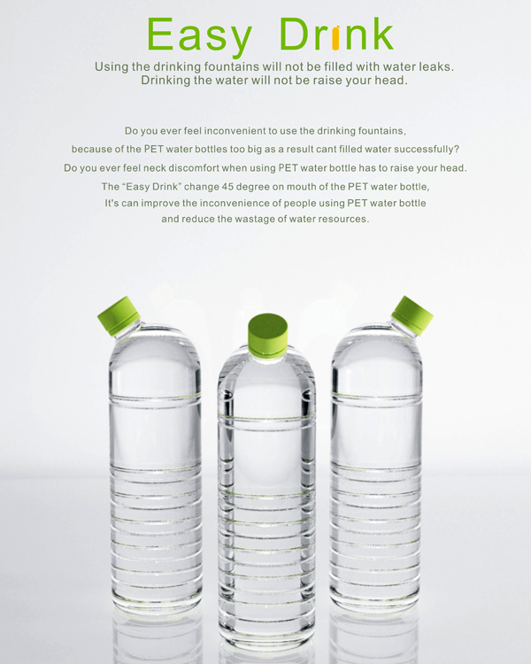 Easy Drink – Bottle Redesign by Hsu Hsiang-Min, Liu Nai-Wen & Chen Yu-Hsin