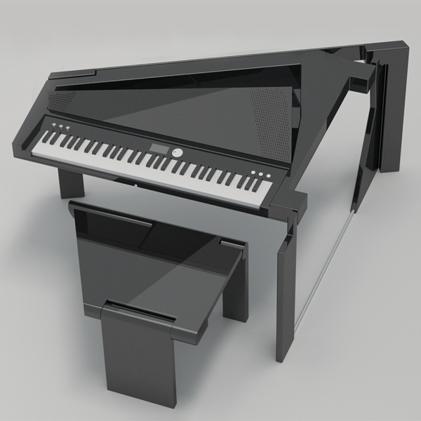 Foldable Digital Grand Piano by Yun Jin-yeong & Jeong Seong-hun