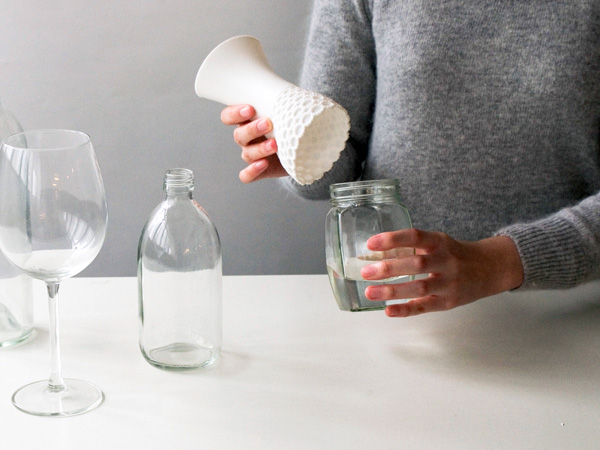 Lace Vase by Milk Design Limited