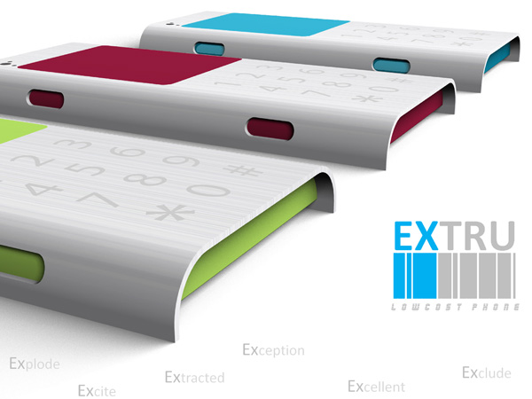 Extru Low Cost Mobile Phone by Sudhanwa Chavan