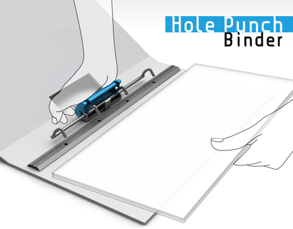 Hole Punch Binder – Office Filing System by Seonyoung Choi