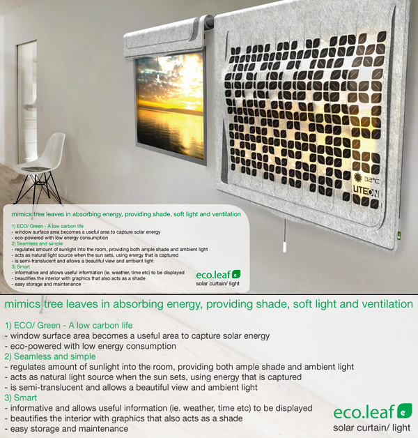 Liteon Eco Leaf – Solar Power Shade by Lim Wan Xuan & Tang Xueling Jane of XentiQ Pte Ltd.