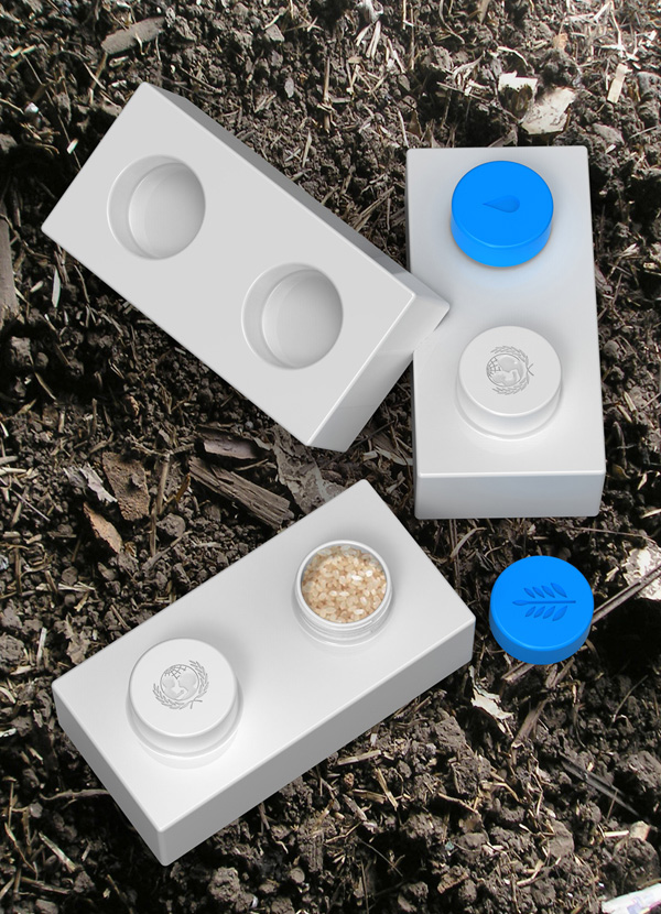 UNICEF Brick – Modular Water and Food Storage Bricks by Psychic Factory
