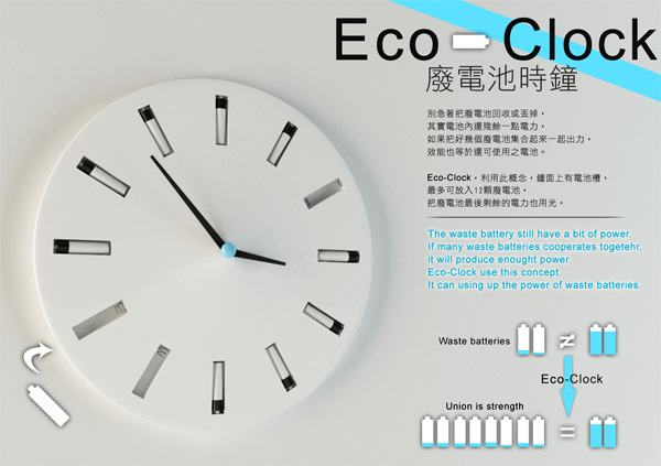 Eco-Clock by Bor-Ru Huang