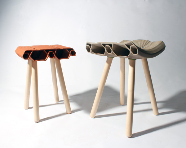 Clay Stools by Max Cheprack
