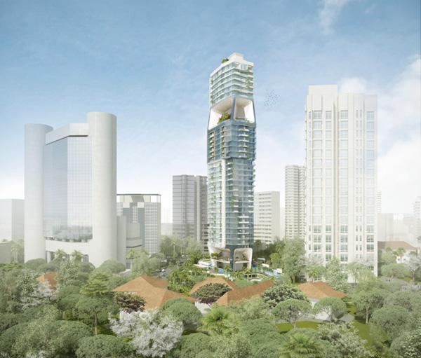 Scotts Tower, Singapore by UNStudio