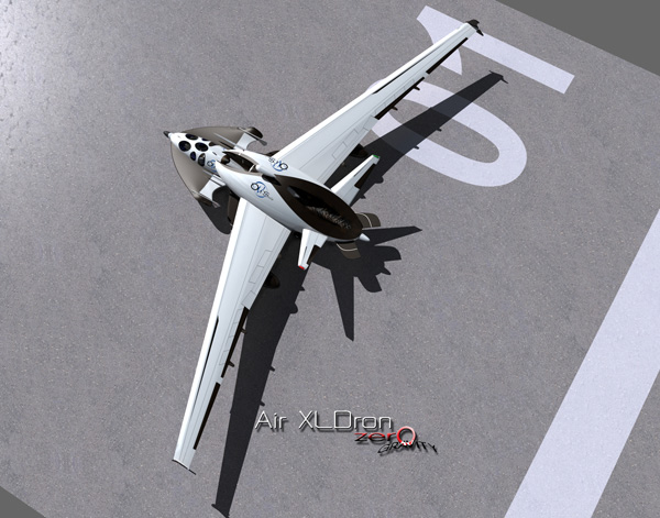 XLDron Zero Gravity - Space Tourism Craft by Oscar Viñals