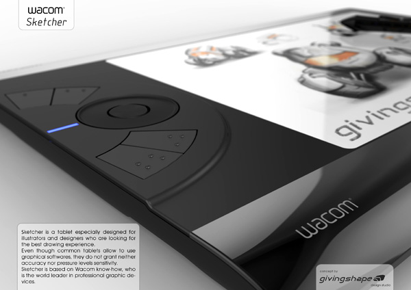 Sketcher – Wacom Tablet Concept by Massimo Battaglia