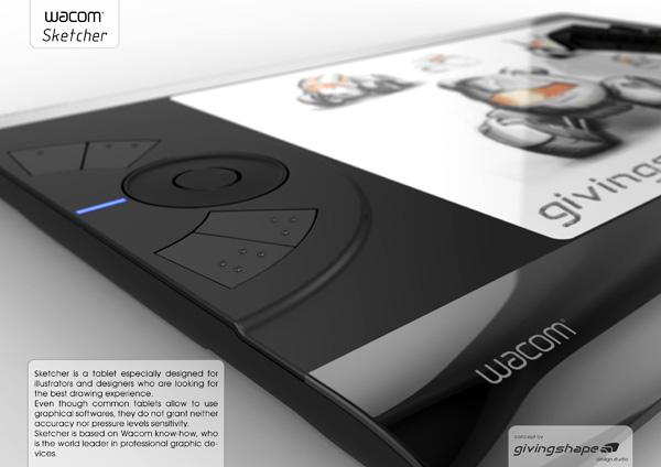 Sketcher – Wacom Tablet Concept by Massimo Battaglia