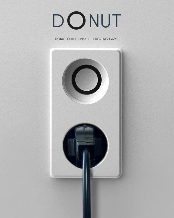 Donut Plug Socket Concept by Suhyun Yoo, Eunah Kim & Jinwoo Chae