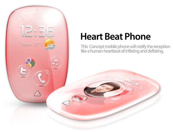 Heartbeat Mobile Phone Concept by Sang-hoon Lee