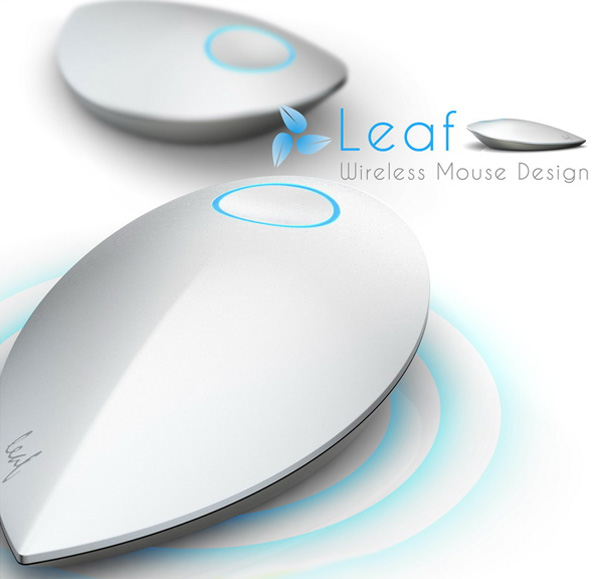 Leaf Wireless Kinetic Mouse by Lu Hairong and Zhang Xuehui