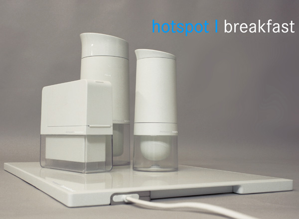 hotspot / breakfast  - Breakfast Set of Kettle, Toaster and Espresso Machine by Stefan Otzelberger