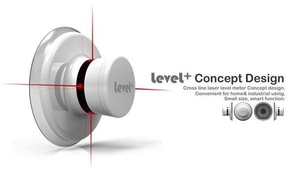 Level+ Cross Line Laser Level Meter Concept by Royce Zhang