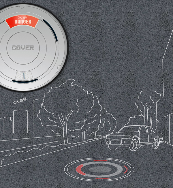 Fuel Cover – Manhole Cover with Biogas Converter and Methane Alert by Wang Yi & Ji Ze