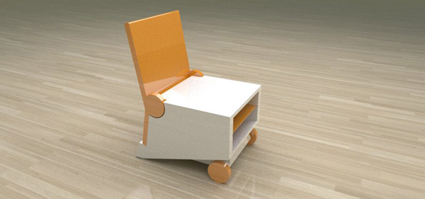 Flippo - Chair/Table by Paulo Corceiro