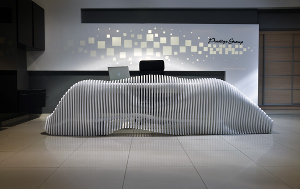 Reception Desk by Mustafa Afsaroglu