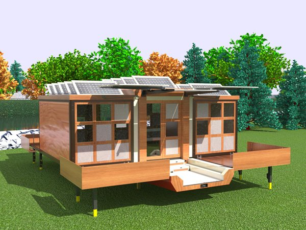Amazing modern mobile home yanko design for Portable home designs