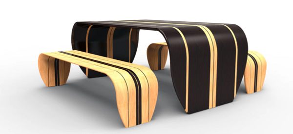 Surfer Bench by Duffy London