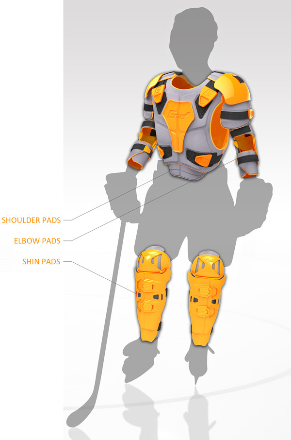 GRO - Protective Hockey Gear by Matt Hughson