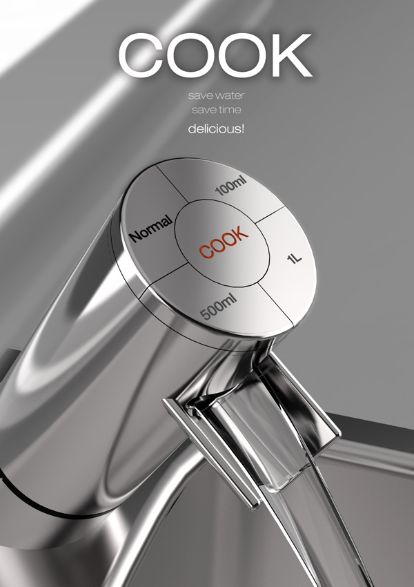 Cook – Kitchen Faucet by Jae iL Bae