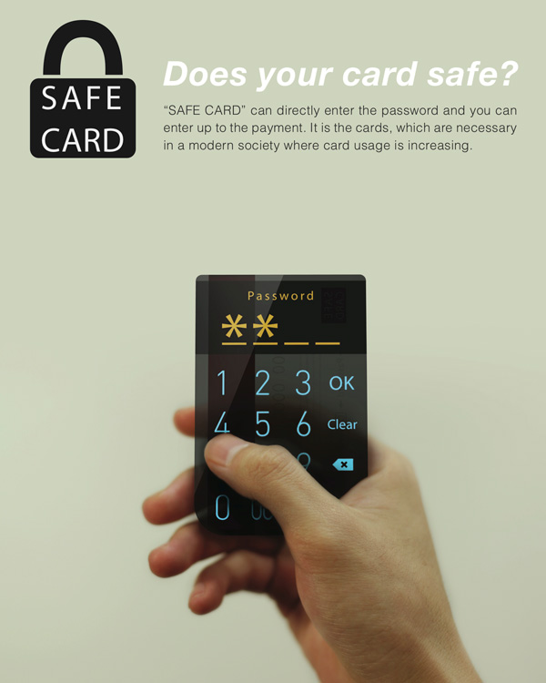 Safe Card – Credit Card Design by Kyoung Mo Baek, Jang Won Park & Jang Hyun Woo