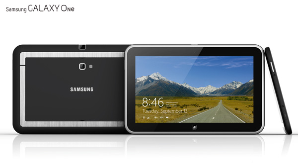 Samsung Galaxy One Tablet Projector Concept by Laura Hong & Charles de Belizal