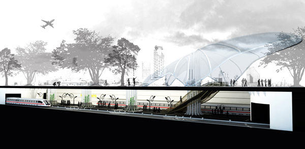 Ficus Tree Train Station for Tel Aviv by Yizhar Galmidi