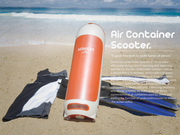 Air Container Scooter for Deep Sea Divers by Jaehwa Lee
