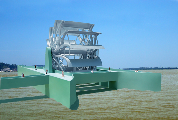 Great River Turbine by Michael Jantzen