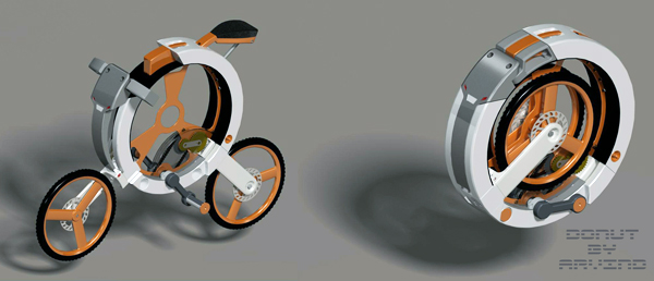 Donut Folding Bicycle by Arvind M