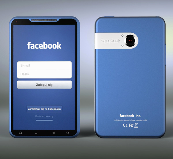 Bluephone Facebook Phone Concept by Michal Bonikowski