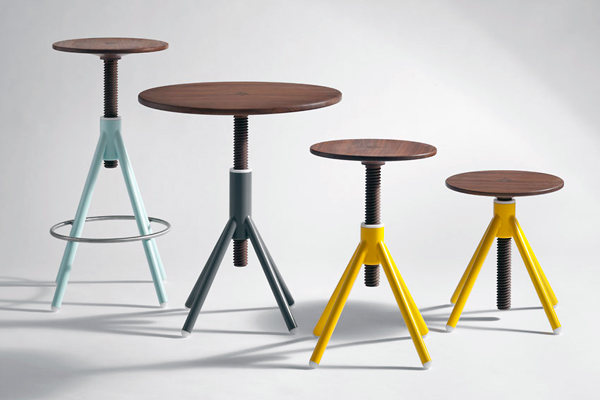 Thread Family - Table and Stool Series by Coordination Berlin