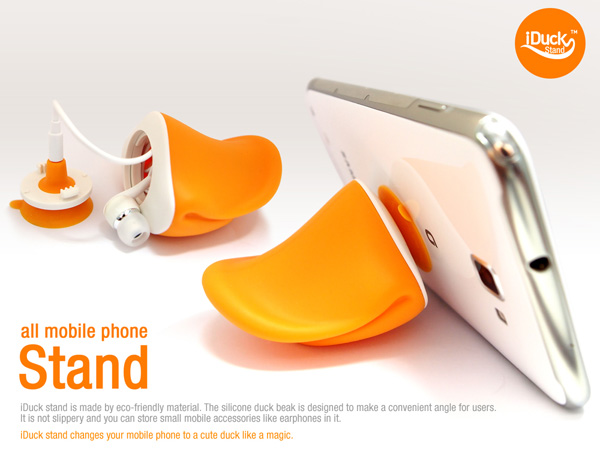 iDUCK Stand for iPhone and Mobile Phones by Knock of Neverland