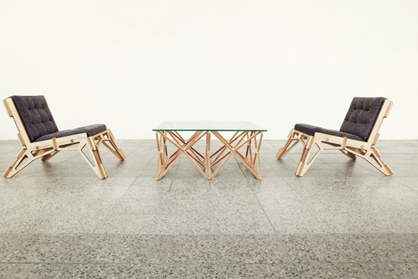 Spaceframe - Furniture Collection by Gustav Düsing