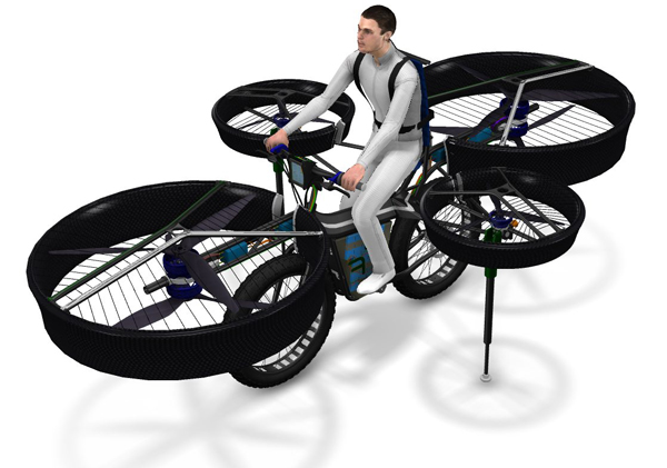 Flying Bike by Technodat, Evektor and Duratec