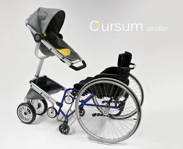 Cursum - Wheelchair Adapted Stroller by Cindy Sjöblom