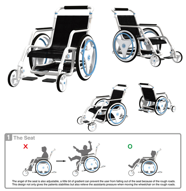 WheelCare - Wheelchair Concept by Che-Yu Lu