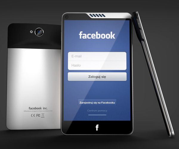 HTC Facebook Phone by Michal Bonikowski