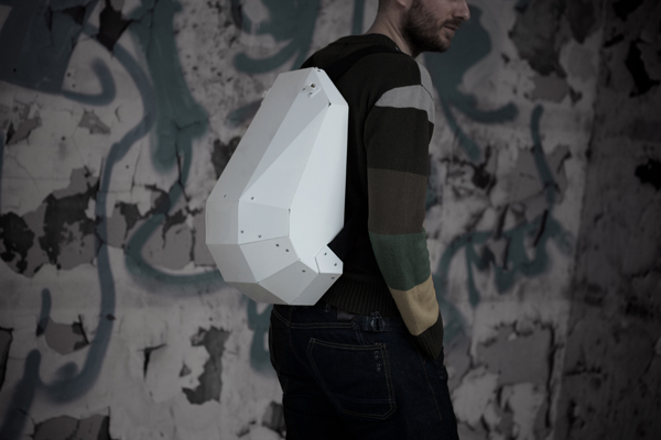 Solid Gray - Backpack by Lijmbach, Leeuw & Vormgeving