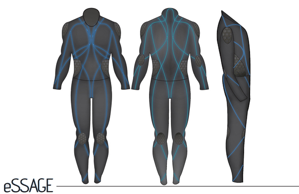 eSSAGE - Massage Suit by André Cofield