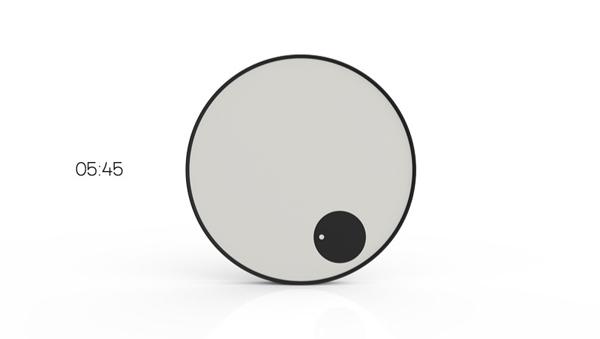 Clever Minimalist Clock Yanko Design