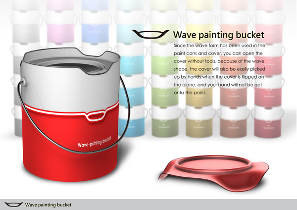 Wave Painting Bucket by Yin-Kai Lee, Fu-Yu Cai and Shuo-Ren Shy
