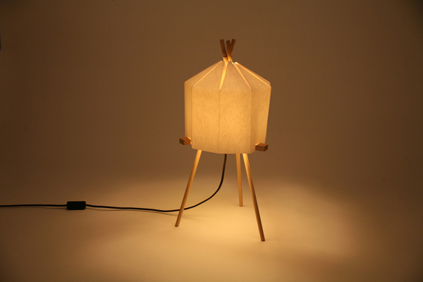 Origami Glow-Paper Lamp by Milk Design