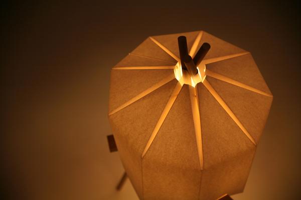Origami Glow-Paper Lamp by Milk Design