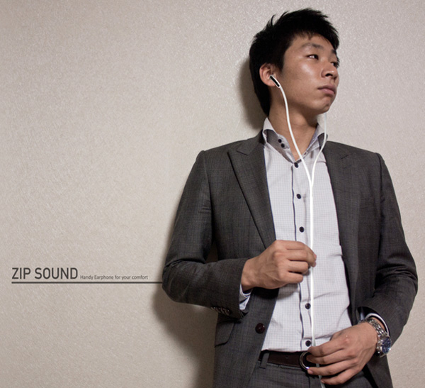 Zipsound Earphones by Lucy Jung